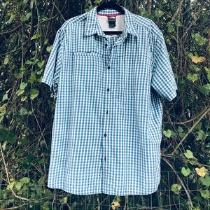 The North Face Plaid Button Down Short Sleeve XL